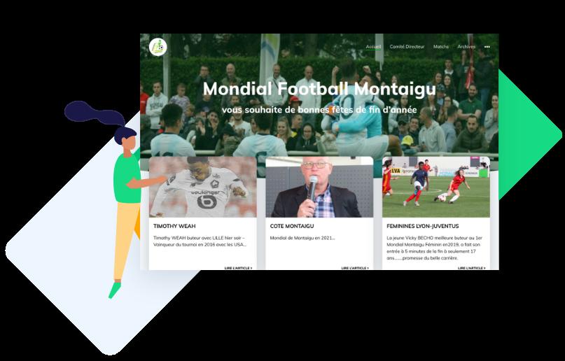 Le Mondial de Football de Montaigu a créé son site internet avec Score'n'co